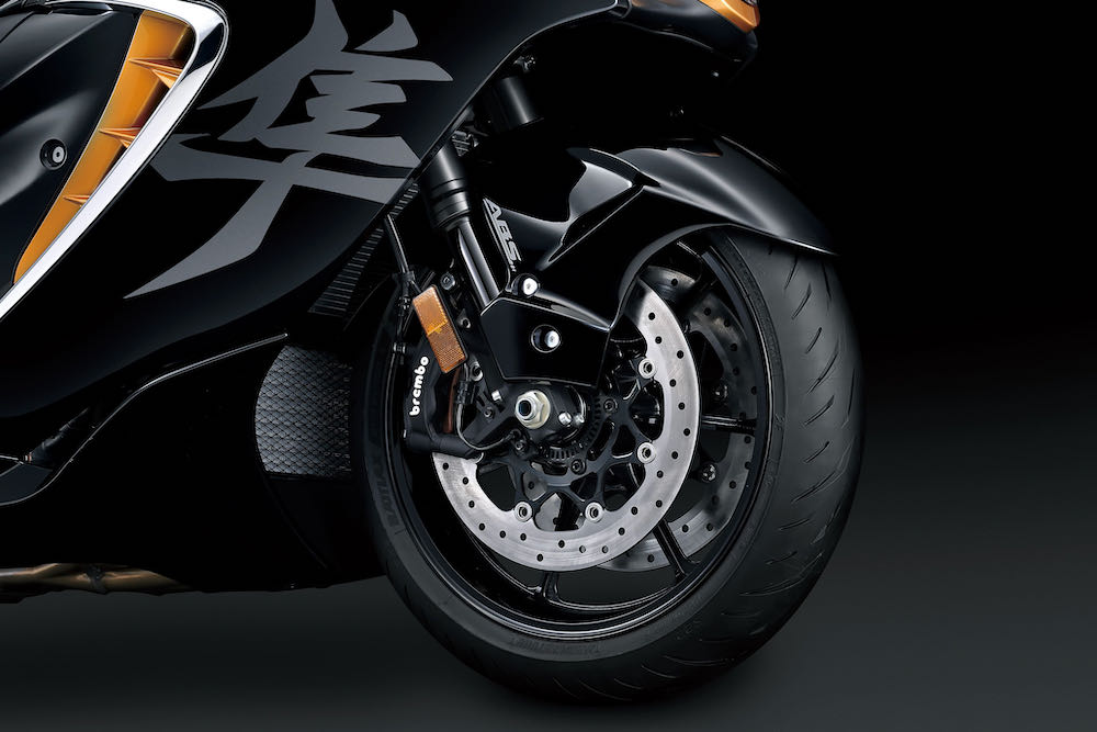 The new Bridgestone tyres are bespoke to the bike